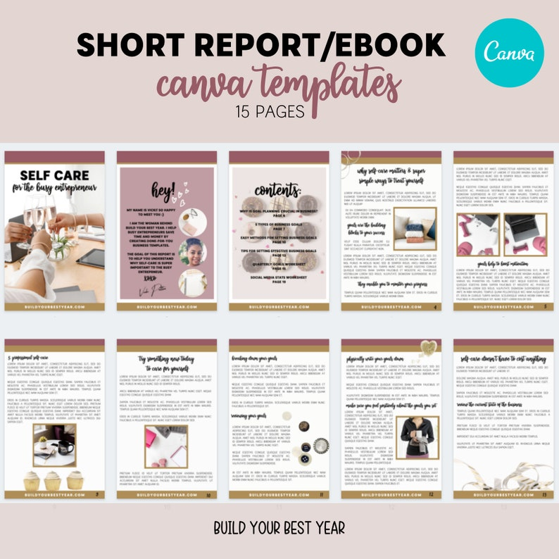 Short Report eBook Canva Template  eBook template  Lead image 0
