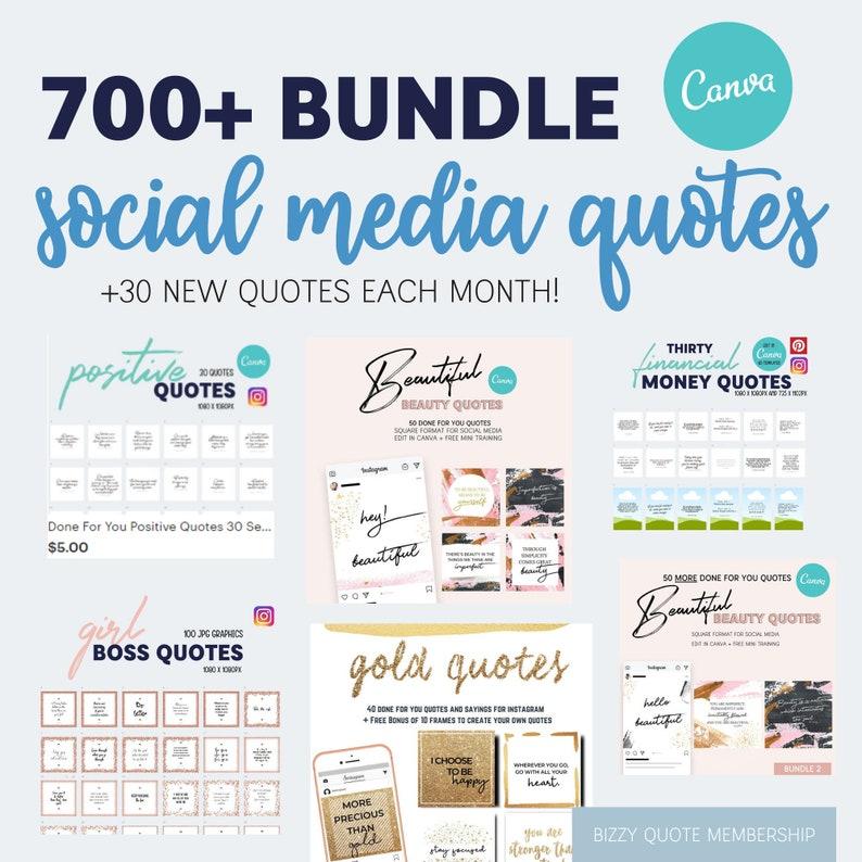 700 Bundle Social Media Quotes  Canva Templates  JPG  PNG image 0