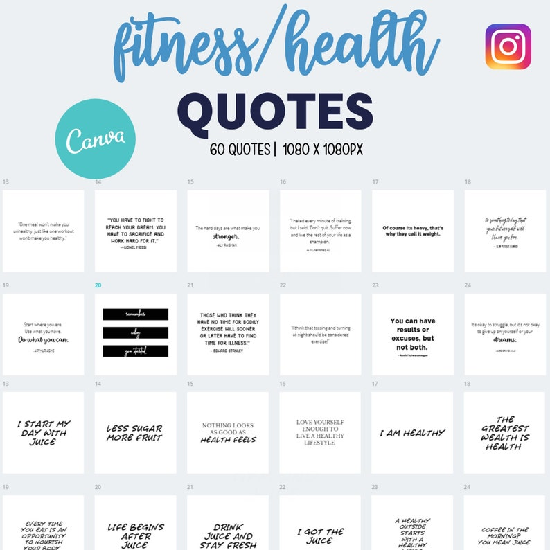 Done For You Fitness Health Juicing Quotes 60 Set Template image 0