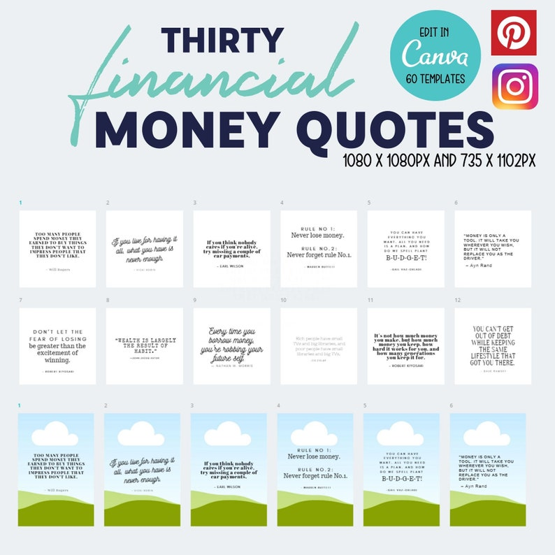 30 Editable Social Media Quotes  Financial Money Quotes  image 0