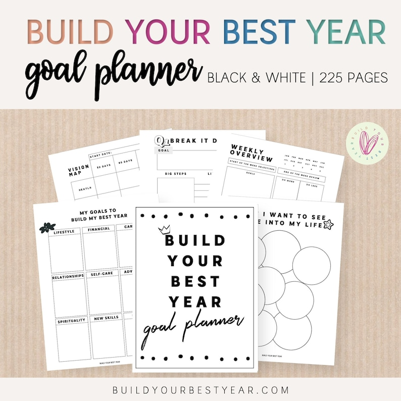 Undated Build Your Best Year Goal Planner Printable  226 image 0
