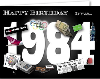 35th Birthday Card Souvenir Of 1984