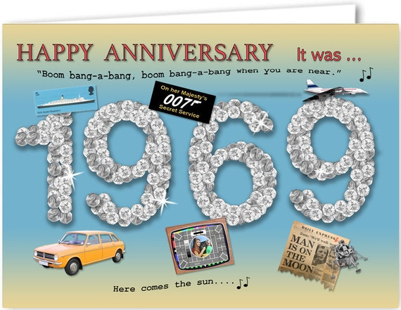 51st Anniversary Card Souvenir Of 1969 2020 Etsy