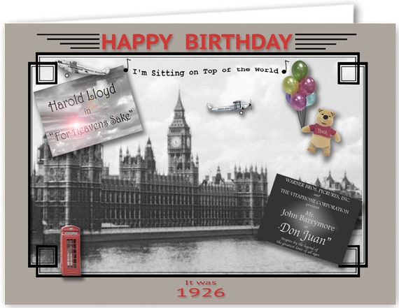 84th Birthday Card souvenir of 1935 2019