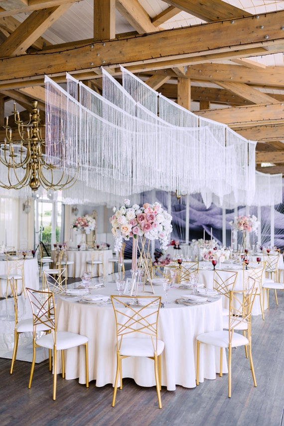 Wedding Backdrop Curtain Extra Large Wall Hanging Boho Event Decoration Ceiling Drapes Wedding Roof Or Ceiling Panels Set