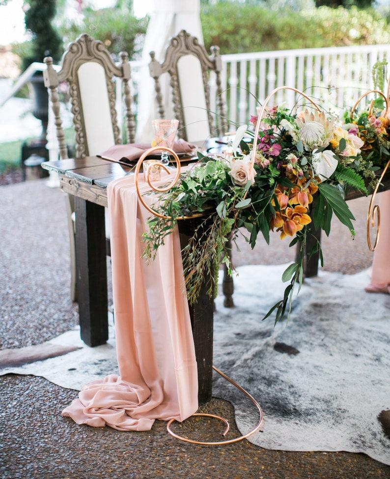 Hochzeit Tischläufer Apricot