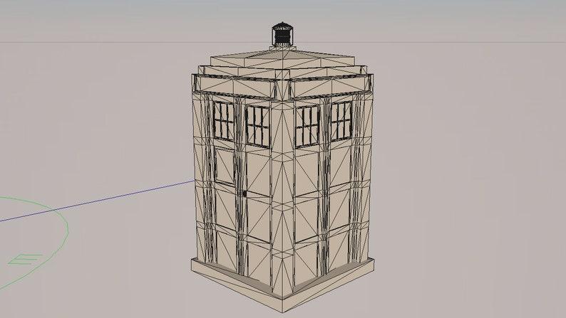STL TARDIS 3D Model