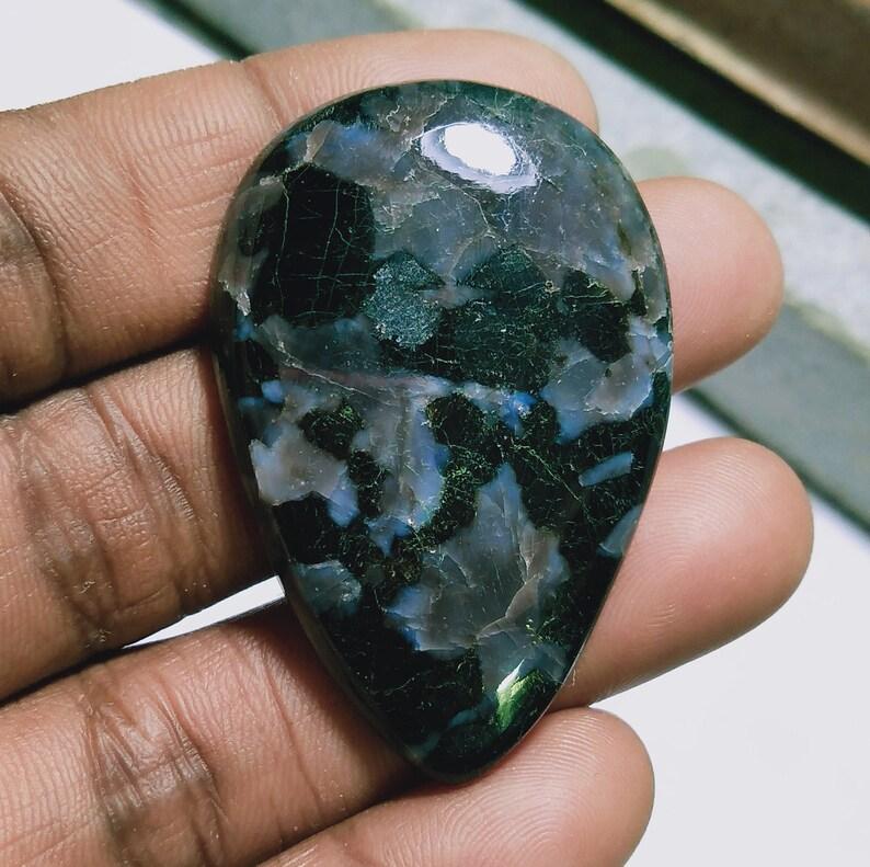 Indigo Gemstone Natural Indigo Gabbro Indigo Gabbro Jewelry Gabbro Cabochon Indigo Gabbro Cab Stones Natural Gemstones