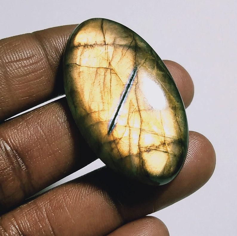 TOP Quality Natural Labradorite stone Labradorite Cabochon Loose stone Hand Made Gemstone StoneFor jewelry stone 52 Ct{ 41 X 23 } mm # 2340