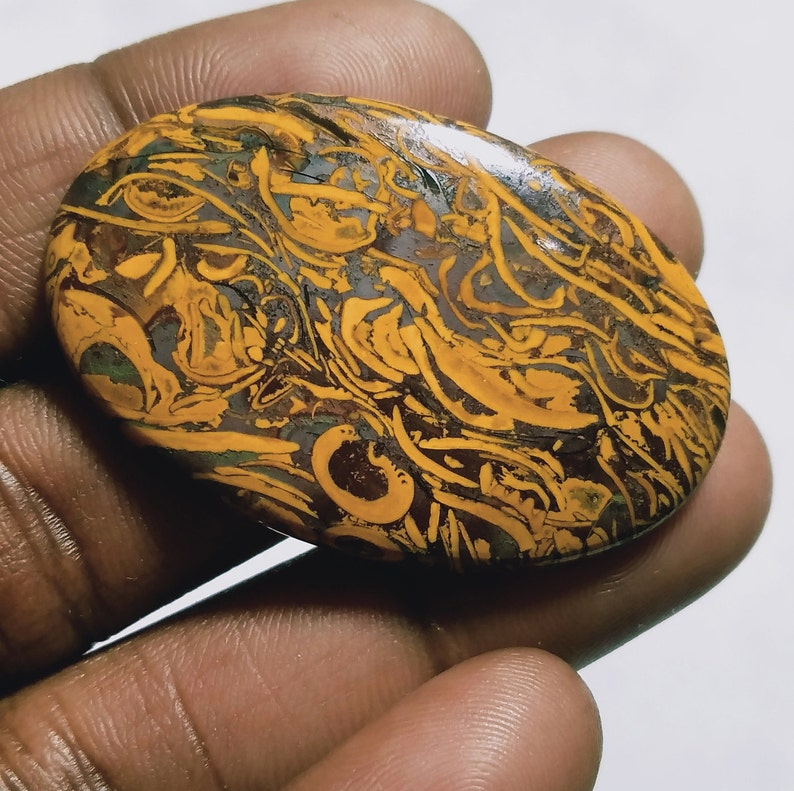 Top Cabochon  Maryam jasper  stone Cabochon Loose stone Maryam Gemstone Hand polish stone  for jewelry stone 38 Ct{ 41  X 26 } mm # 2592