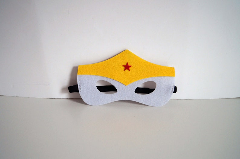 Wonder woman Great for dressing up Felt masks birthdays parties everyday outfit.