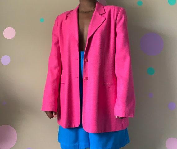 Women's Vintage Fuschia Blazer Size: 16P