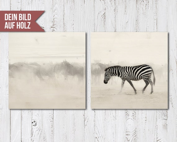 Mural 2 Pieces Photo Print On Wood Multi Piece Wooden Etsy
