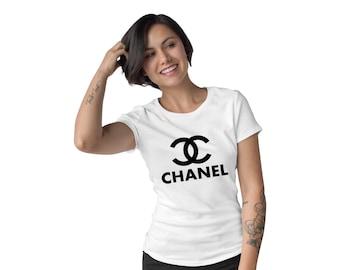 6538a01ed93c Tshirt femmes Chanel, Chanel chemise, T-Shirt Paris Chanel, Chanel mode T- Shirt-SP-03051 noir