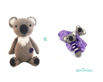 crochet pattern Haakpatronen VARKEN rammelaar /& kroeldoekje amigurumi combipakket: knuffel