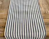 Ticking stripe table runner, farmhouse table runner, striped table runner