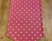 Tapered Ends, Festive Table Runner, Polka Dot Christmas Table Runner