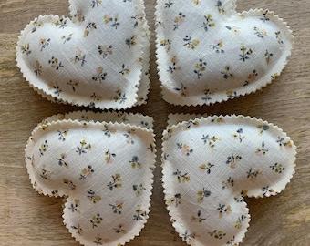 Set of Lavender Scented Sachets, Lavender Filled Love Hearts, Lavender Hearts,