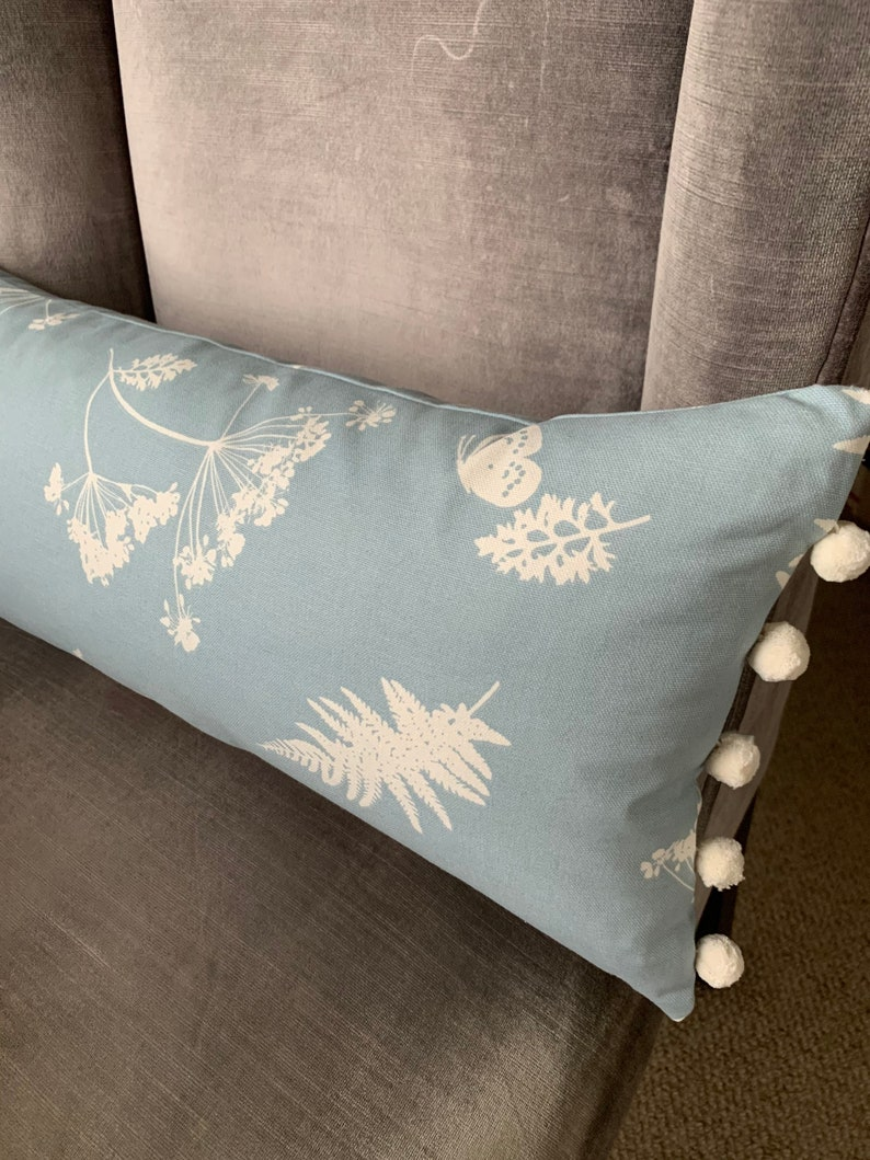 Fern & Butterfly Cushion Decorative Cushions Scatter image 0