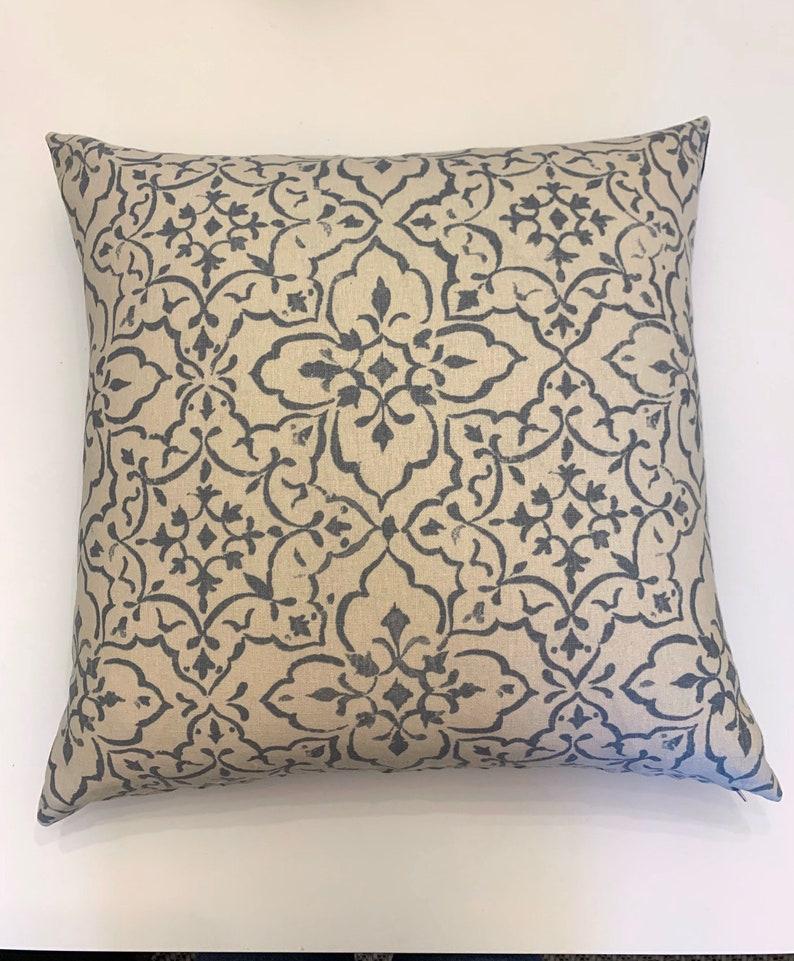 Tabriz Cushion Decorative Cushions Scatter Cushion Blue and image 0