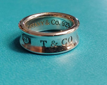 dfc734965 Vintage Tiffany & Company Sterling Silver Concave Band 1837 925