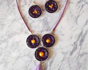 Gold color nespresso capsule necklace