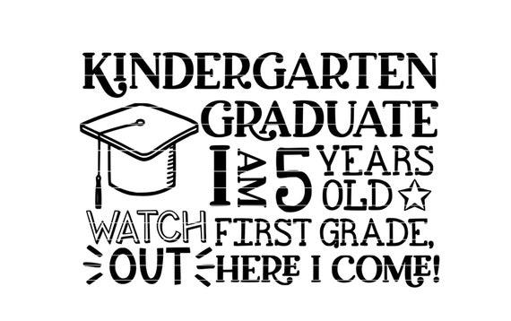 Kindergarten Graduation Svg Digital Download For Graduates Etsy