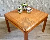 Nathan Mid Century Vintage 1970s Teak Coffee Side Table