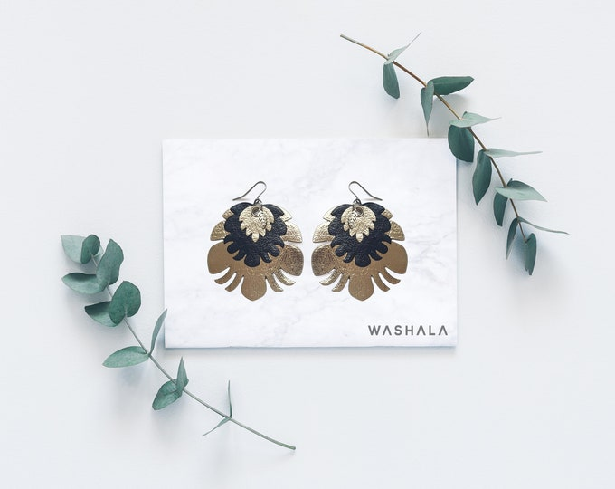 Featured listing image: VEGAN LEATHER Earrings