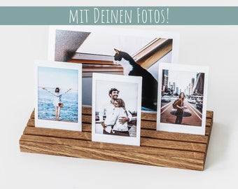 Photo holder made of wood, photo stand, photo, photo bar, instax, picture stand, card stand, card holder, business card stand, gift