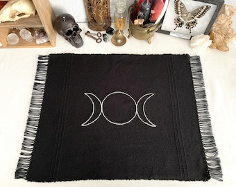 Tarot Cloth - Triple Moon    Altar Cloth   Witchy Decor   Wiccan Decor   Witchcraft Decor   moon phases
