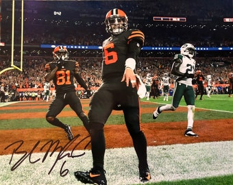 Baker Mayfield signed autographed 8 x 10 photo Cleveland Browns w   COA 36a841212