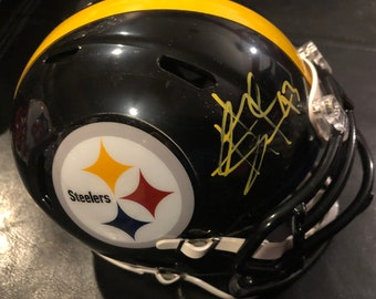 ad3598e1c87 Troy Polamalu signed autographed Pittsburgh Steelers mini helmet w / COA