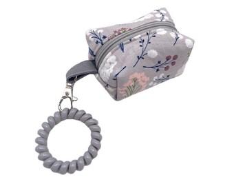 Keychain Boxy Coin Purse Change Pouch Mini Purse Keychain Pouch Heart Print Pouch Mini Bag Small Boxy Zipper Pouch