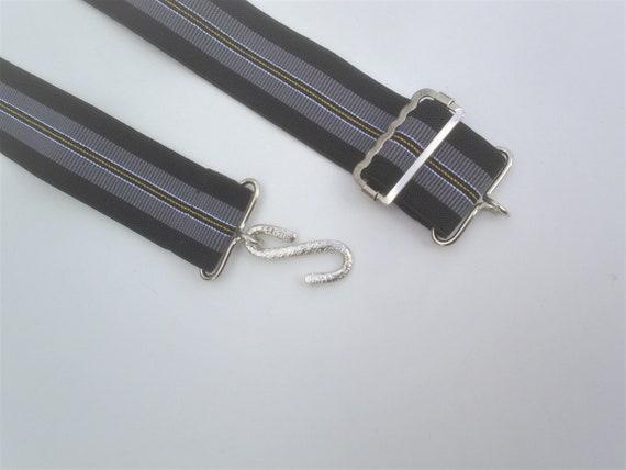 heavy duty elastic snake belts fashion  stripes fits 30 to 46 waist 1 inch wide