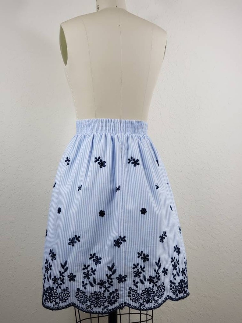 Embroidered Lace Cotton Skirt