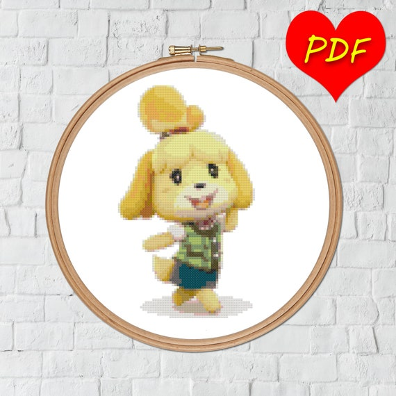 Animal Crossing Isabelle Cross Stitch Pattern New Leaf Etsy