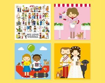 WE LOVE VIENNA Postcard Set
