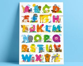 WLYA ANIMALS ABC Poster