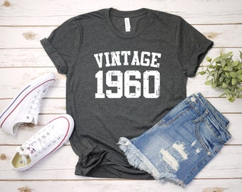 1dae4248 Vintage 1960 Shirt, 59th Birthday, 59th Birthday Gift, 59th Birthday Shirt, 59th  Birthday Party, 1960 T-Shirt