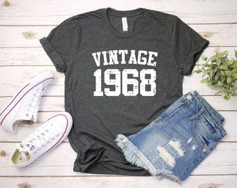 2f0b349a Vintage 1968 Shirt, 51st Birthday, 51st Birthday Gift, 51st Birthday Shirt,  51st Birthday Party, 1968 T-Shirt