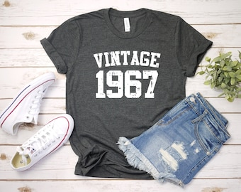 89e91eff2 Vintage 1967 Shirt, 52nd Birthday, 52nd Birthday Gift, 52nd Birthday Shirt,  52nd Birthday Party, 1967 T-Shirt
