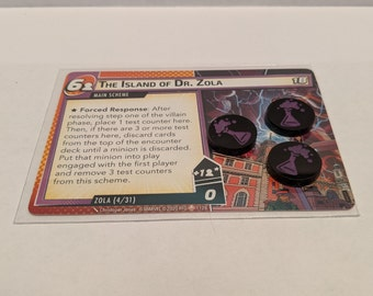 Zola Test Counters - 3x Hand-Painted, Fan-Made Tokens for Marvel Champions LCG