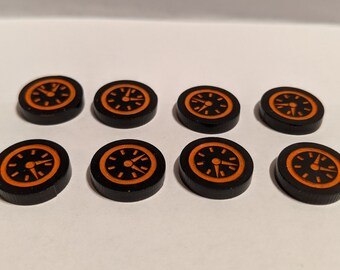 Absorbing Man Delay Counters - 8x Hand-Painted, Fan-Made Tokens for Marvel Champions LCG