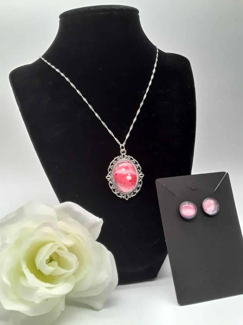 Cabochon necklace set #132