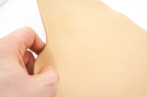 Full grain vegetable tanned leather Veg tan leather sheet of 1.5mm//3-4oz thick