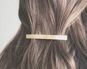 Gold Color Crystal Hair Barrette Clip