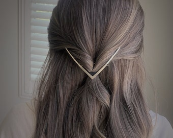 Gold Silver Rose Gold Metal Hair Claw Minimalist Hair Claw Minimal Large Hair Claw Clip for French Twist Claw Clip for Thick Thin Hair