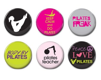 Pilates Retro button badge Pinup badge Pilate Sayings Glass Dome Button Pin Badge Pilates Pin Badge gift for women 05 gift for her