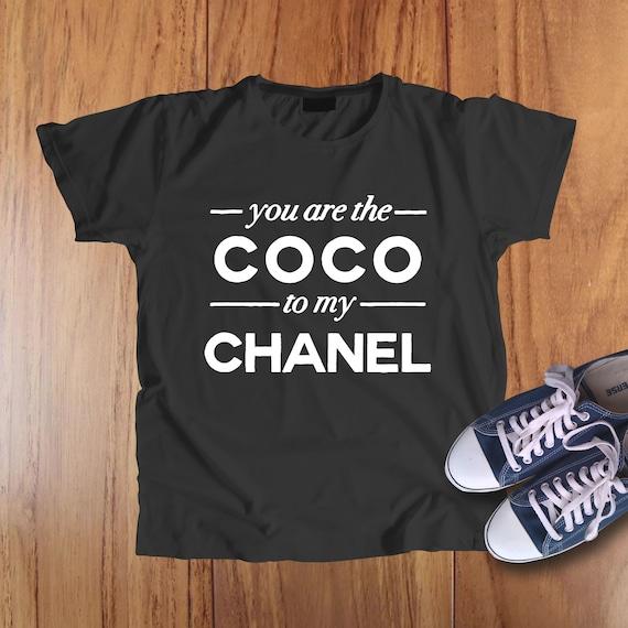 37ee3816fb5b ... chanel shirt coco chanel tshirt chanel t shirt gucci shirt etsy ...